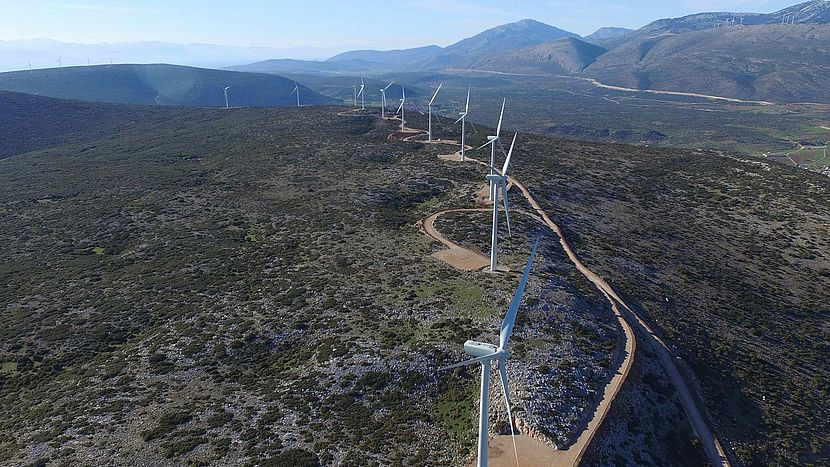 EREN Renewable Energy's Maristi wind farm in Greece.